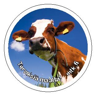 Tarra Lehmä 50 kpl / Kortit ja tarrat / MTK-materiaalit